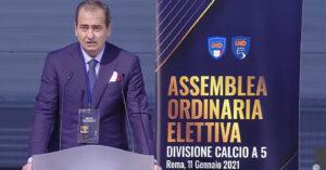 luca bergamini presidente divisione calcio a cinque